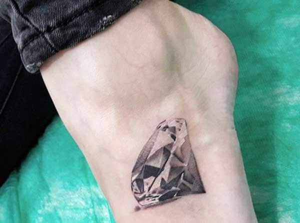 lovely diamond tattoos