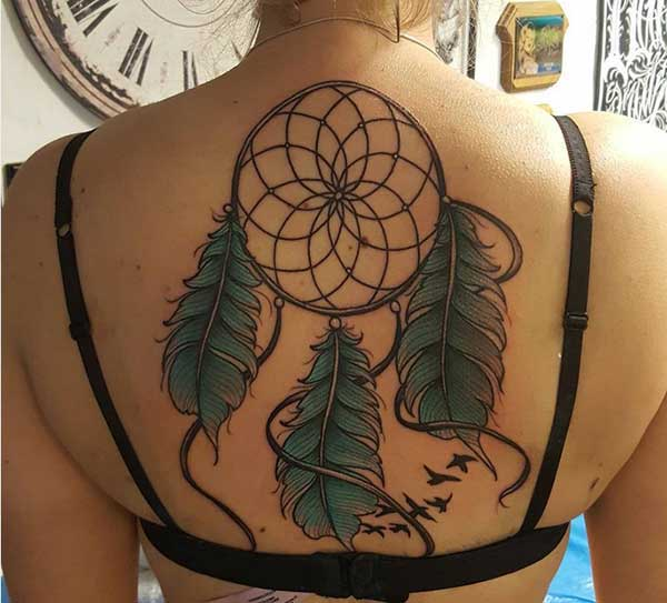women dreamcatcher tattoos