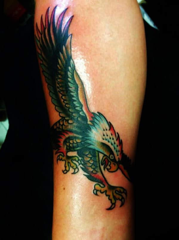colourful eagle tattoos