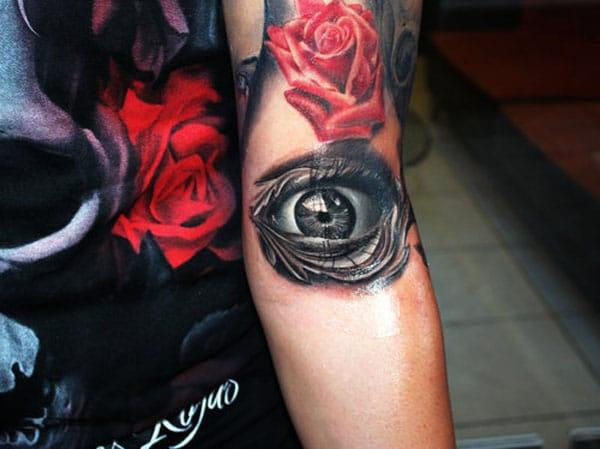 eye tattoos for girls