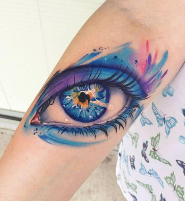 beautiful eye tattoos