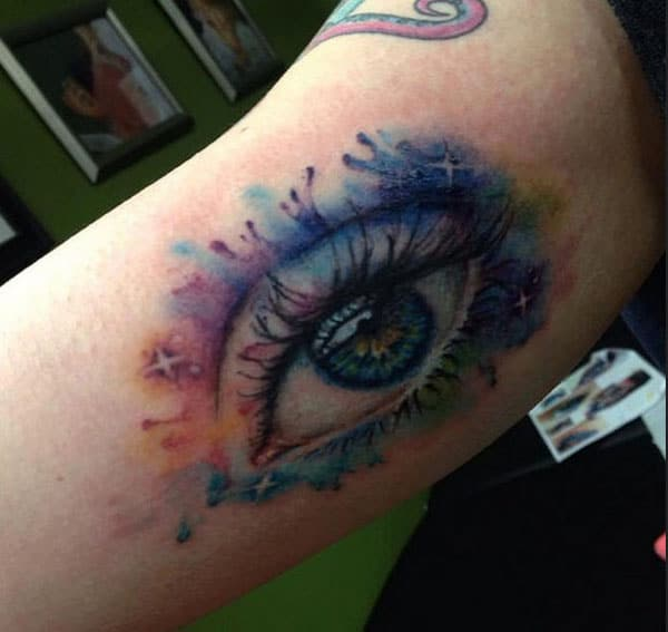 colourful eye tattoos