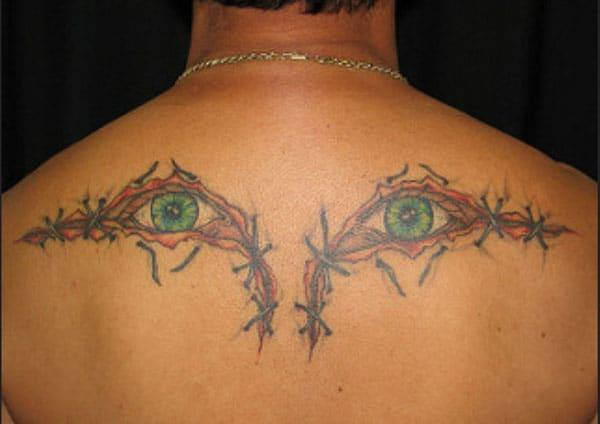 eye tattoo on the back