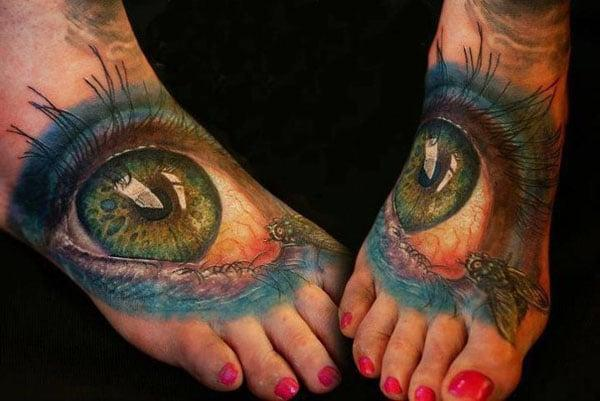 eye tattoo for ladies