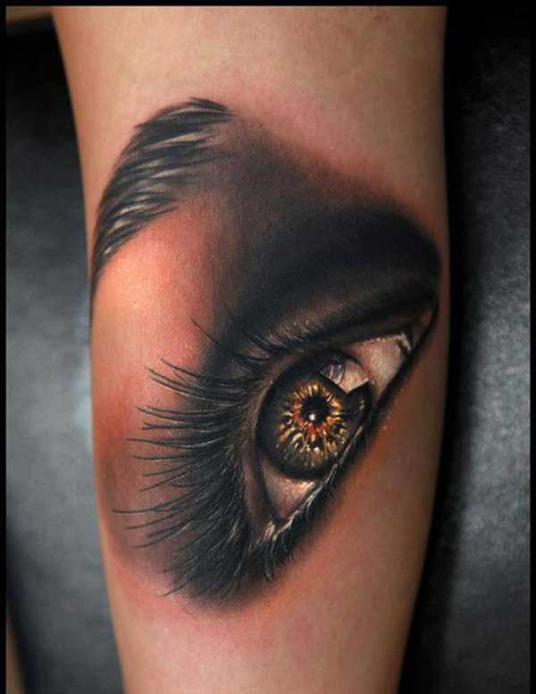 girl eye tattoos
