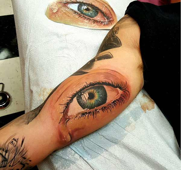 eye tattoos for guys