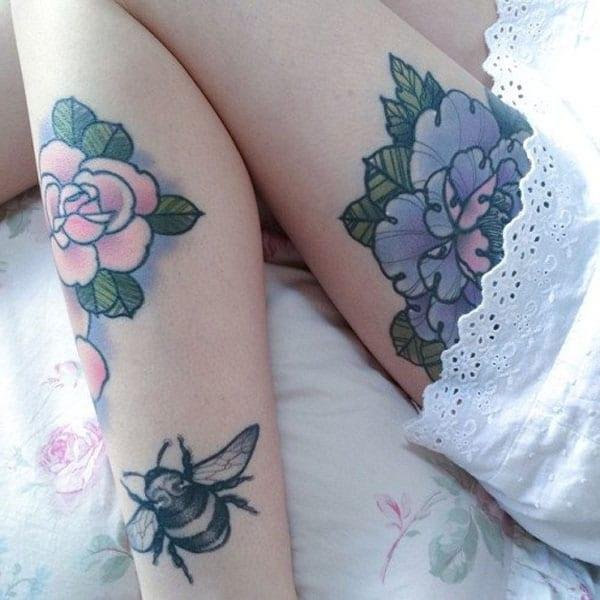 girls flower tattoos