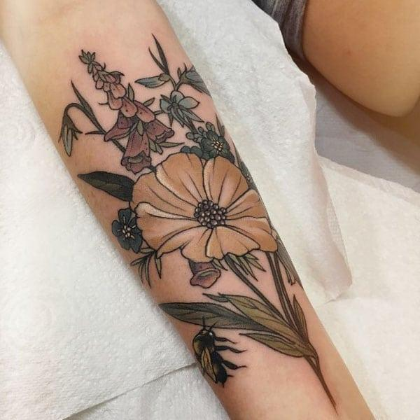 Blumen-Tattoos-Ideen