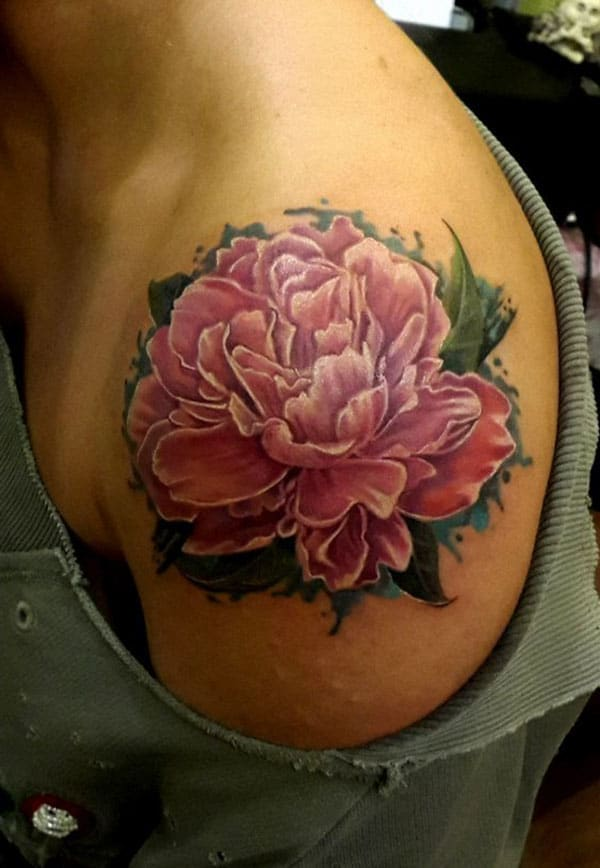 shoulder flower tattoos