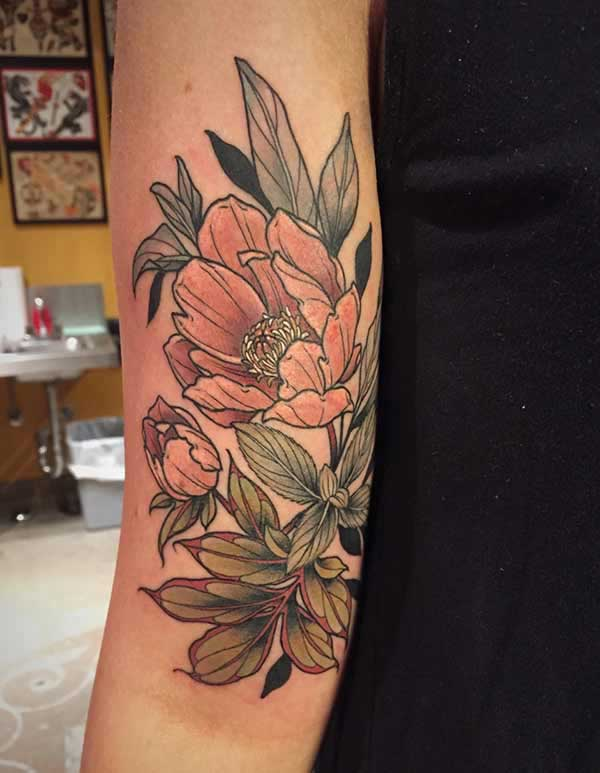 tolle Blumen-Tattoos