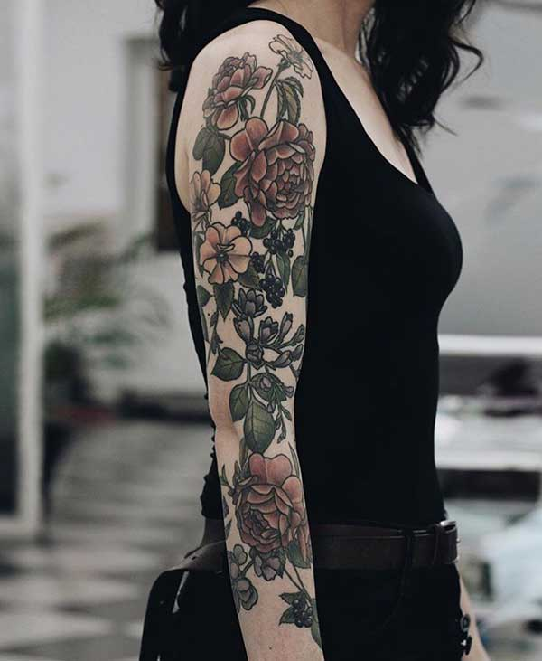 girly flower tattoos