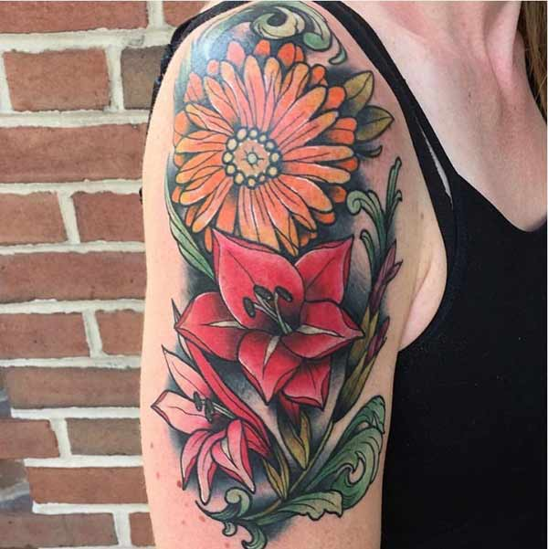flower tattoo for women