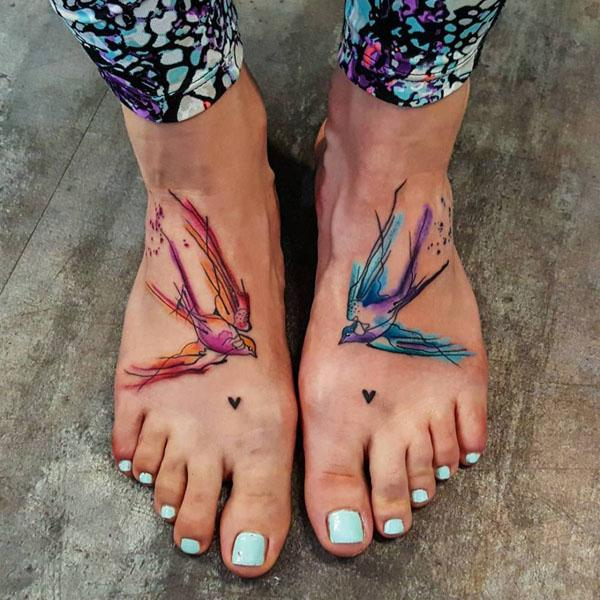 amazing foot tattoos