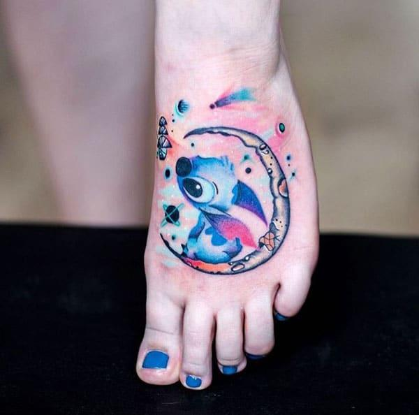 colourful foot tattoos