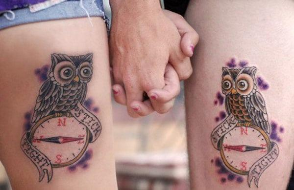 friendship tattoos on thigh