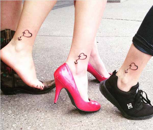 female friendship tattoos