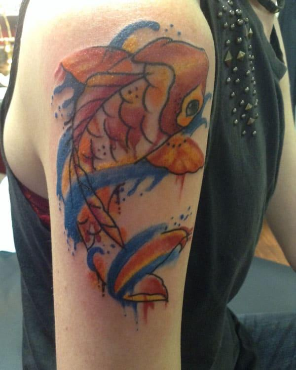 koi fish tattoo for females