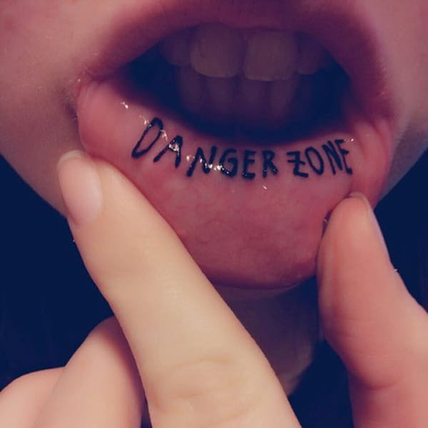 inner lip tattoos