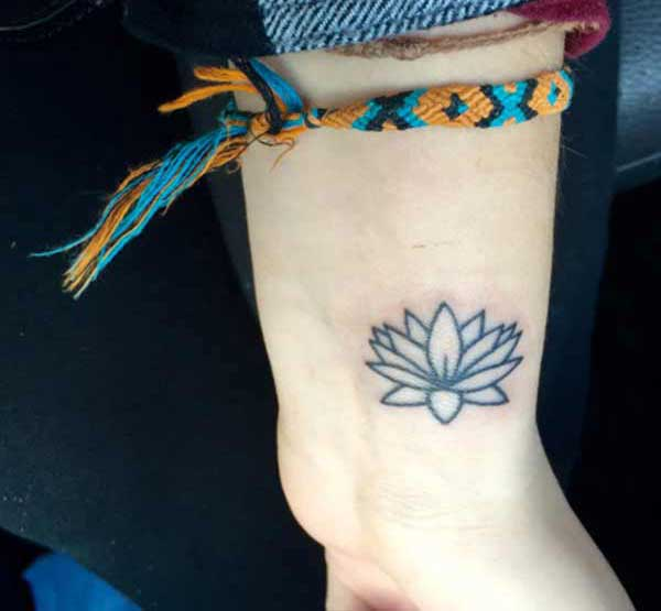 wrist lotus flower tattoos