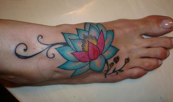 female lotus flower tattoos