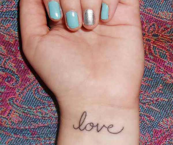 wrist love tattoos