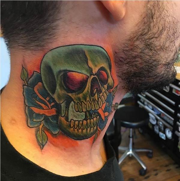 amazing neck tattoos