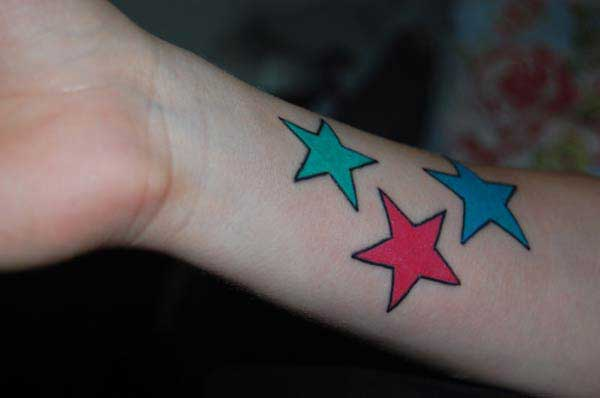 beautiful star tattoos