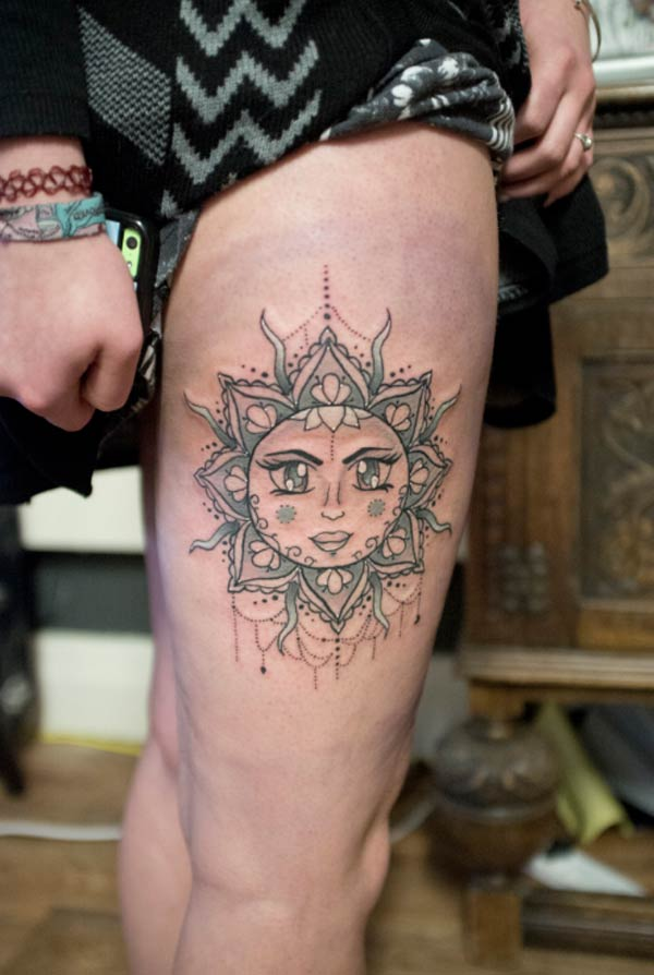 female sun tattoos