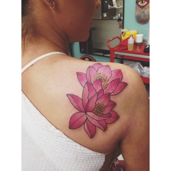 lotus flower tattoos for females
