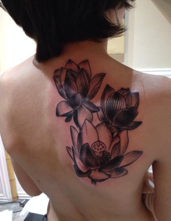 girl lotus flower tattoos