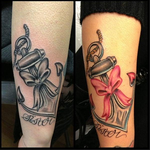mencocokkan tato untuk saudara perempuan