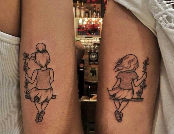 sister tattoo art