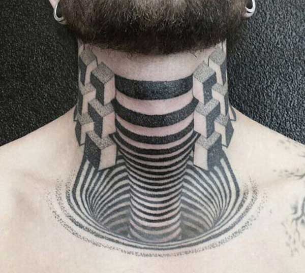 neck 3d tattoos