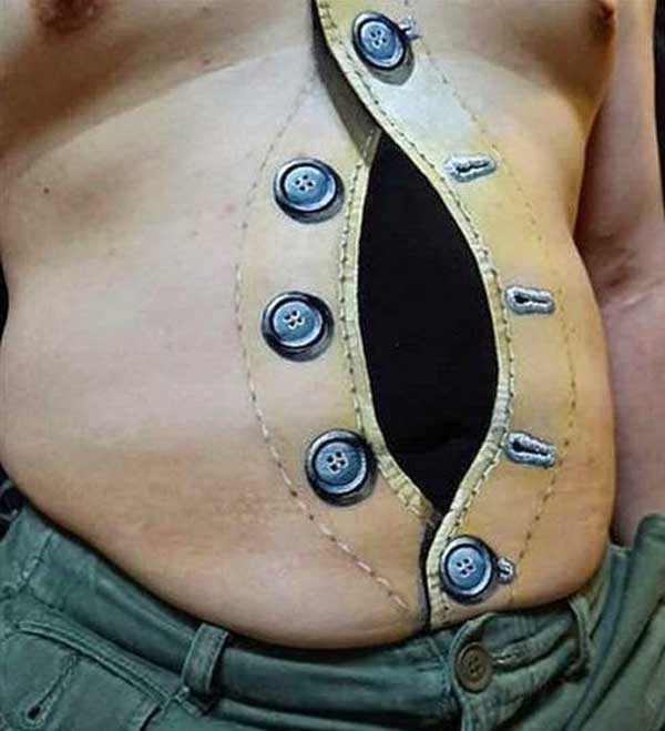 stomach 3d tattoos