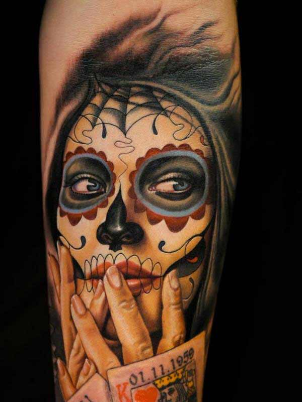 powerful day of dead tattoos