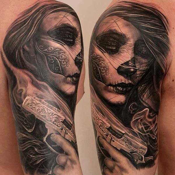 amazing day of dead tattoos