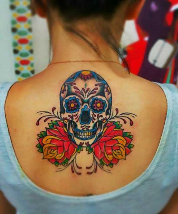 Life and day of dead tattoos