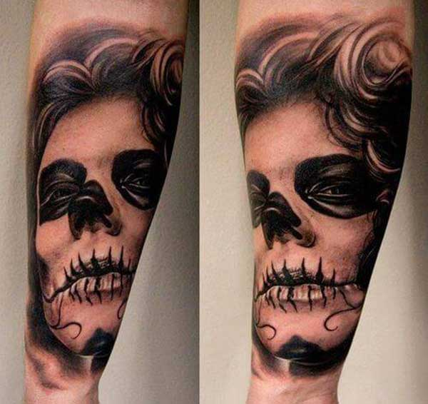 Crazy Day of Dead Tattoos