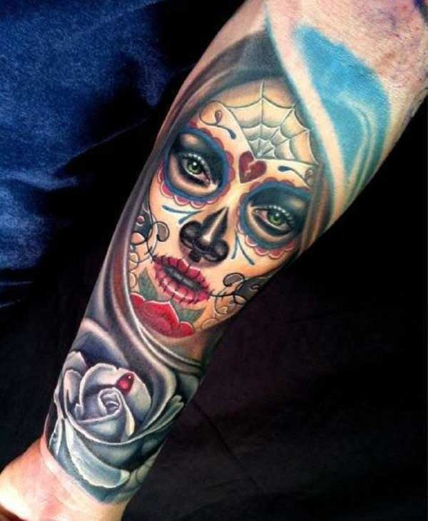 best 24 day of the dead tattoos design idea for men and women tattoos art ideas. Black Bedroom Furniture Sets. Home Design Ideas
