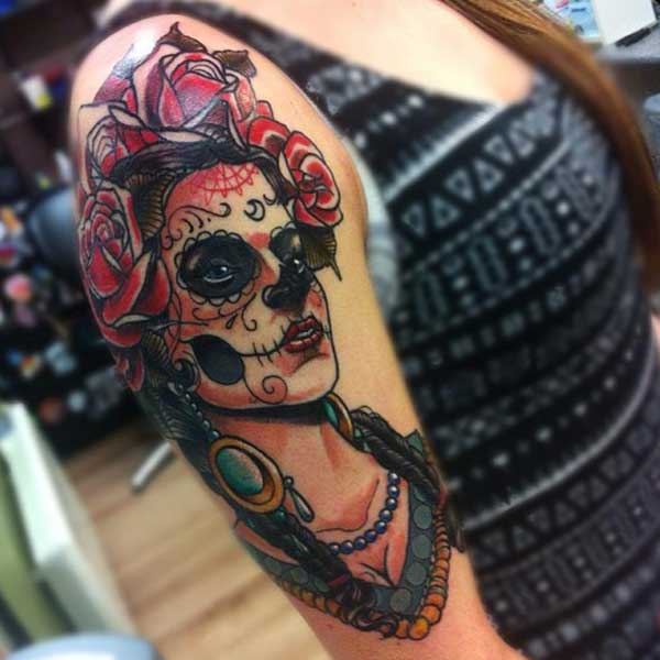 girly day of the dead tattoos