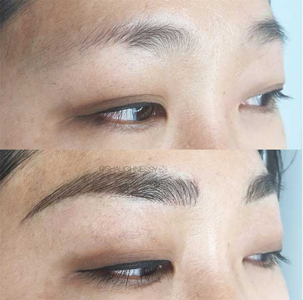 lovely eyebrow tattoos