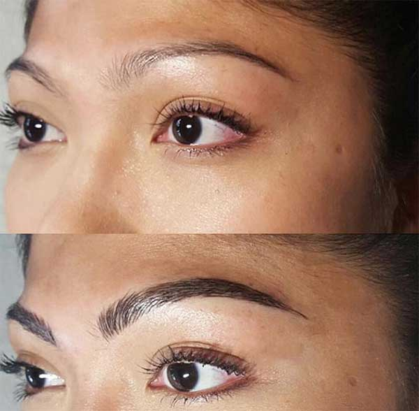 stunning eyebrow tattoos