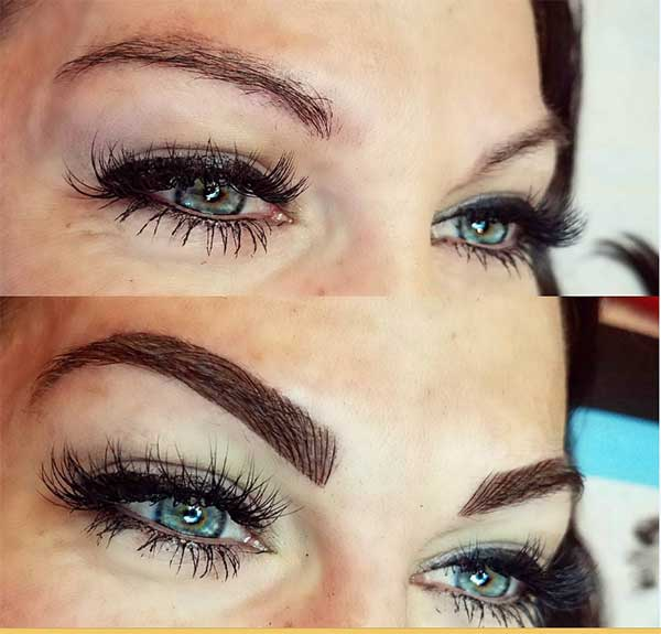 beautiful eyebrow tattoos