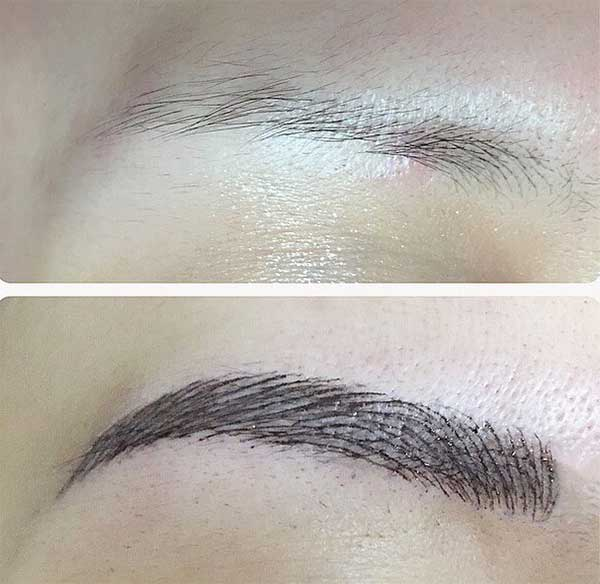 great eyebrow tattoos