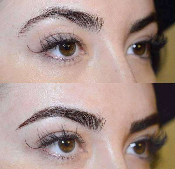 girly eyebrow tattoos