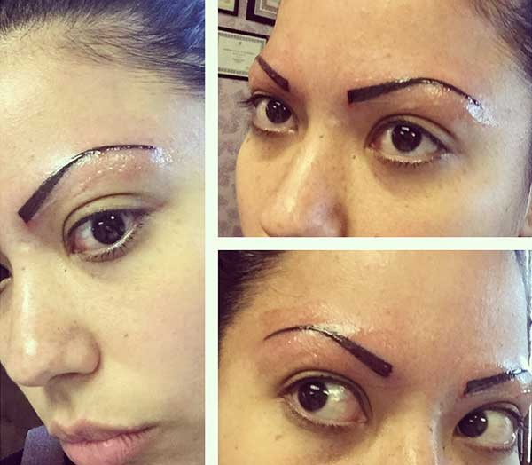 straight eyebrow tattoos