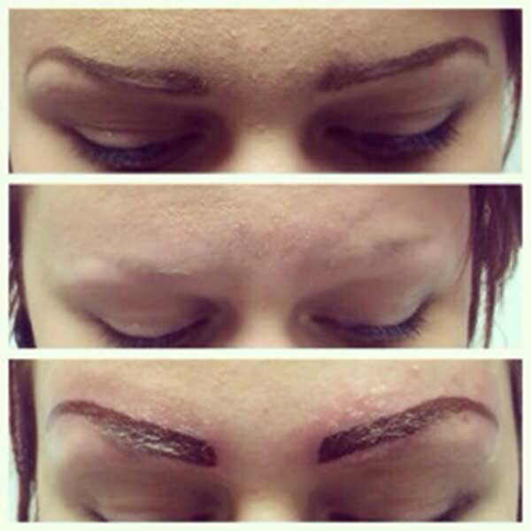 curve eyebrow tattoos