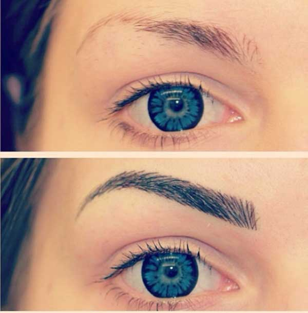 amazing eyebrow tattoos
