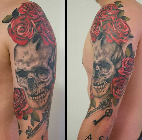Best 24 half sleeve tattoos design idea for men tattoos for Cost of a half sleeve tattoo