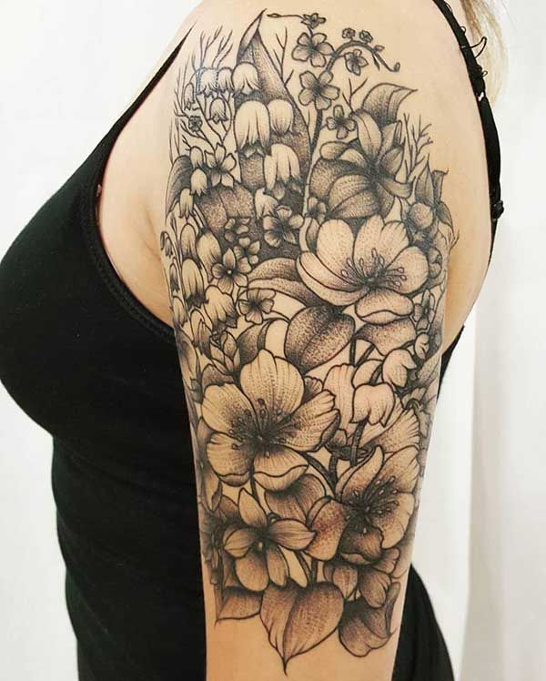 awesome half sleeve tattoo for women